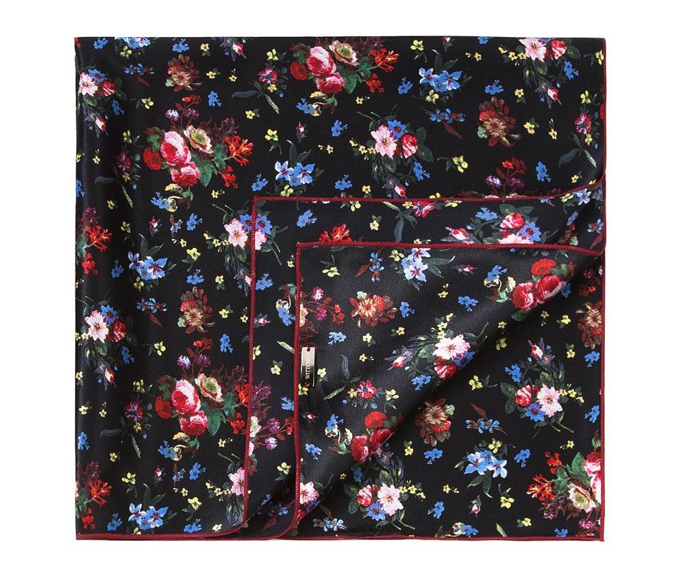 Шарф женскийЖенский шейный платок выполнен из шелка с знаком наивысшего качества King Silk. Узорная модель идеально сочетается  с женственным минималистическим стилем.<br><br>секс: женщина<br>Цвет: разноцветный<br>материал:: Шелк<br>высота (см):: 55<br>ширина (см):: 55