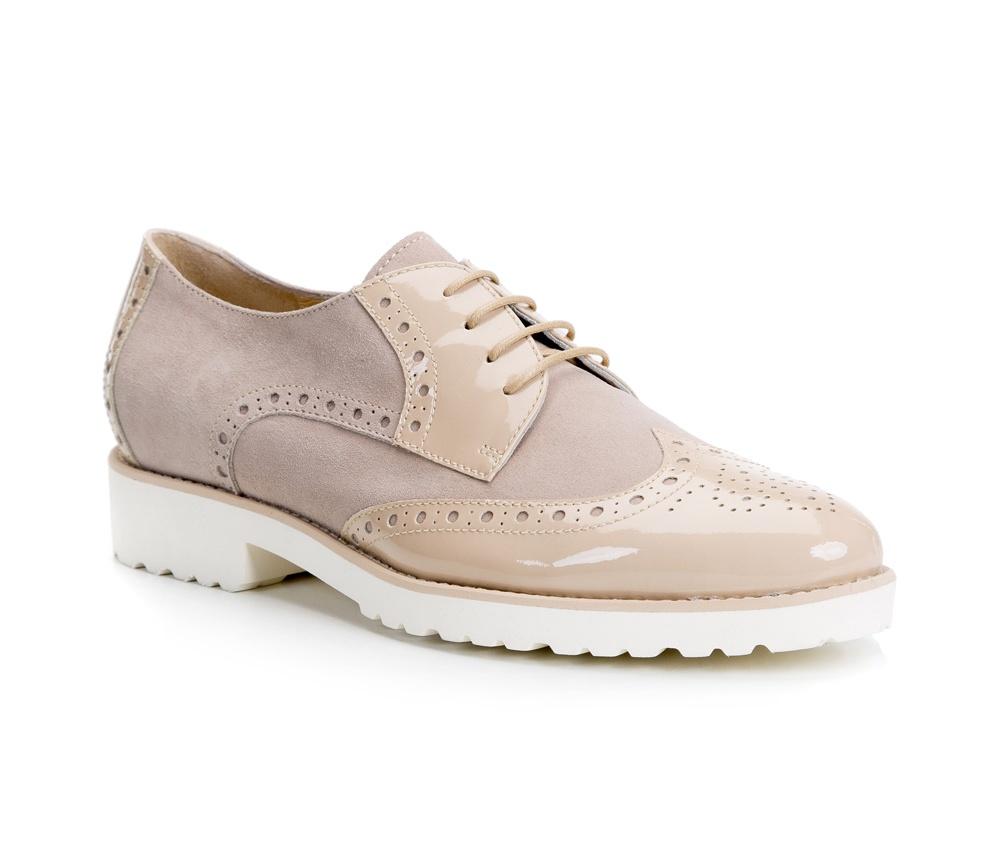 Обувь женскаяЭффектные туфли в стиле CREEPERS. Изготовленные по технологии Hand Made и выполнены полностью из натуральной итальянской кожи наивысшего качества. Подошва сделана из качественного синтетического материала.  Интересная текстура и дизайн будут идеальным дополнением каждого стиля.<br><br>секс: женщина<br>Цвет: бежевый<br>Размер EU: 36<br>материал:: Натуральная кожа<br>примерная высота каблука (см):: 3