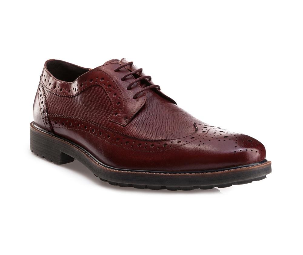 Обувь мужскаяМужские ботинки выполнены по технологии \hand made\ из лучшей итальянской кожи. Подошва полностью сделана из качественного синтетического материала.<br><br>секс: мужчина<br>Цвет: красный<br>Размер EU: 43<br>материал:: Натуральная кожа<br>примерная высота каблука (см):: 3