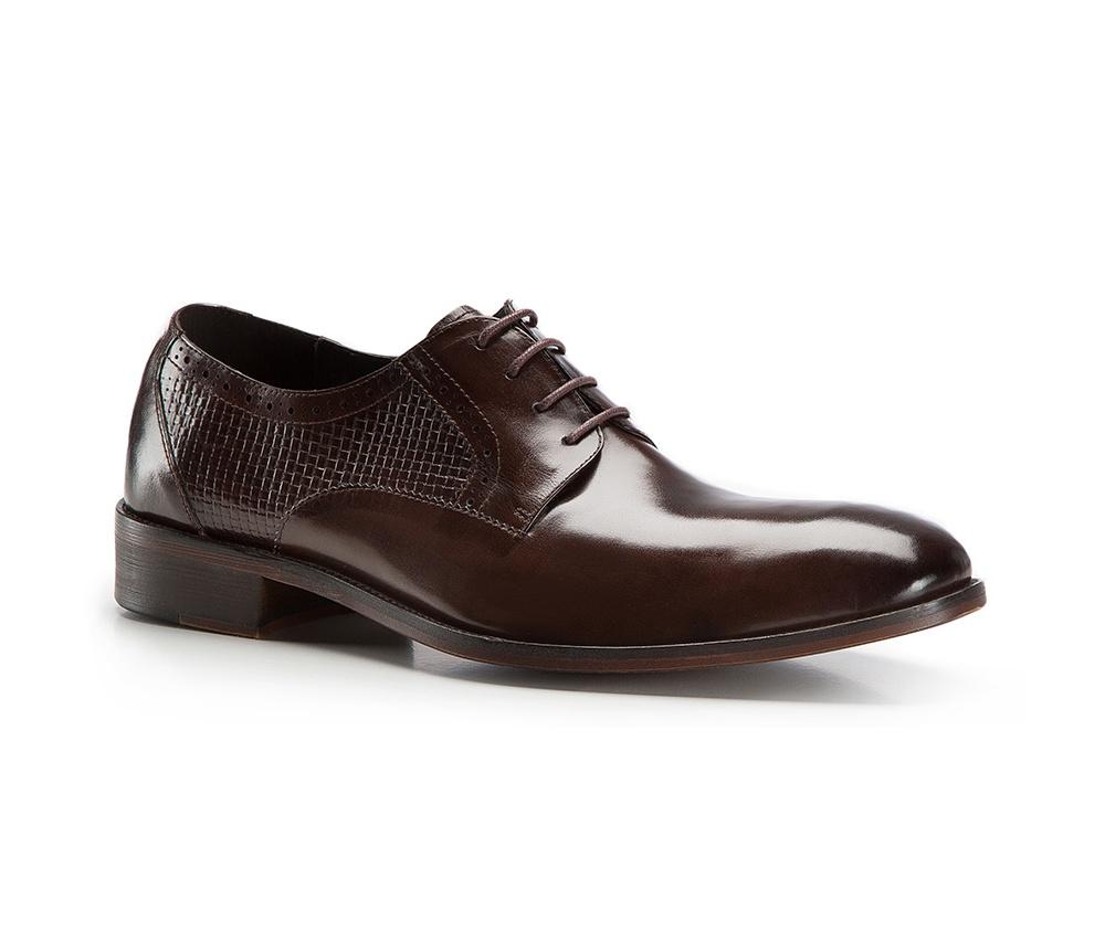 Туфли мужские  Wittchen 86-M-820-4, темно-коричневыйТуфли мужские  Wittchen 86-M-820-4, темно-коричневый<br><br>секс: мужчина<br>Цвет: коричневый<br>Размер EU: 43<br>материал:: Натуральная кожа<br>примерная высота каблука (см):: 3