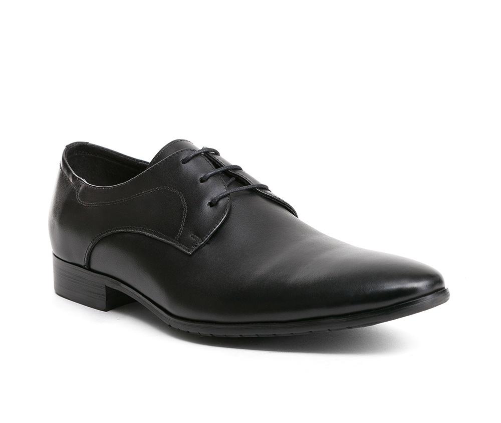 Обувь мужскаяТуфли мужские Дерби, выполнены по технологии Hand Made из натуральной итальянской кожи наивысшего качества.   Подошва сделана из качественного синтетического материала. Фасон, который придется по вкусу мужчинам, ценящим универсальные и в то же время элегантные решения. натуральная кожа  текстиль/натуральная кожа синтетический материал<br><br>секс: мужчина<br>Цвет: черный<br>Размер EU: 42<br>материал:: Натуральная кожа<br>примерная высота каблука (см):: 2,5
