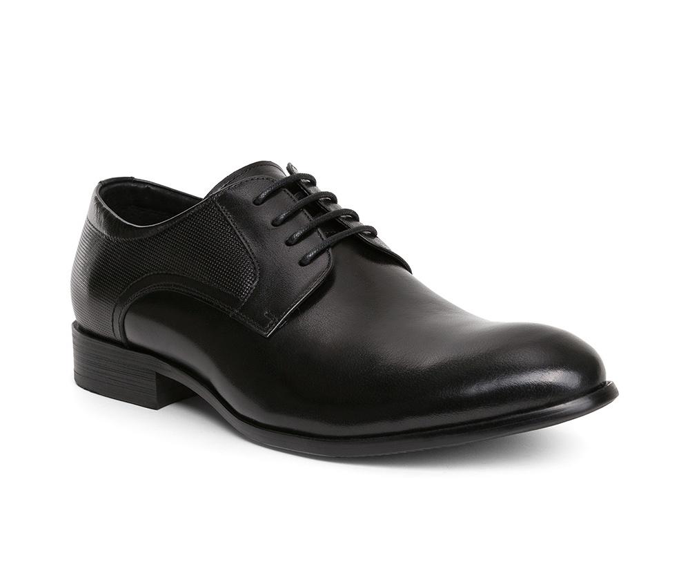 Обувь мужскаяТуфли мужские, выполнены по технологии Hand Made из натуральной итальянской кожи наивысшего качества.  Подошва сделана из качественного синтетического материала. Уникальное тиснение  придает роскоши и  идеально дополняет официальный образ. натуральная кожа  натуральная кожа синтетический материал<br><br>секс: мужчина<br>Цвет: черный<br>Размер EU: 45<br>материал:: Натуральная кожа