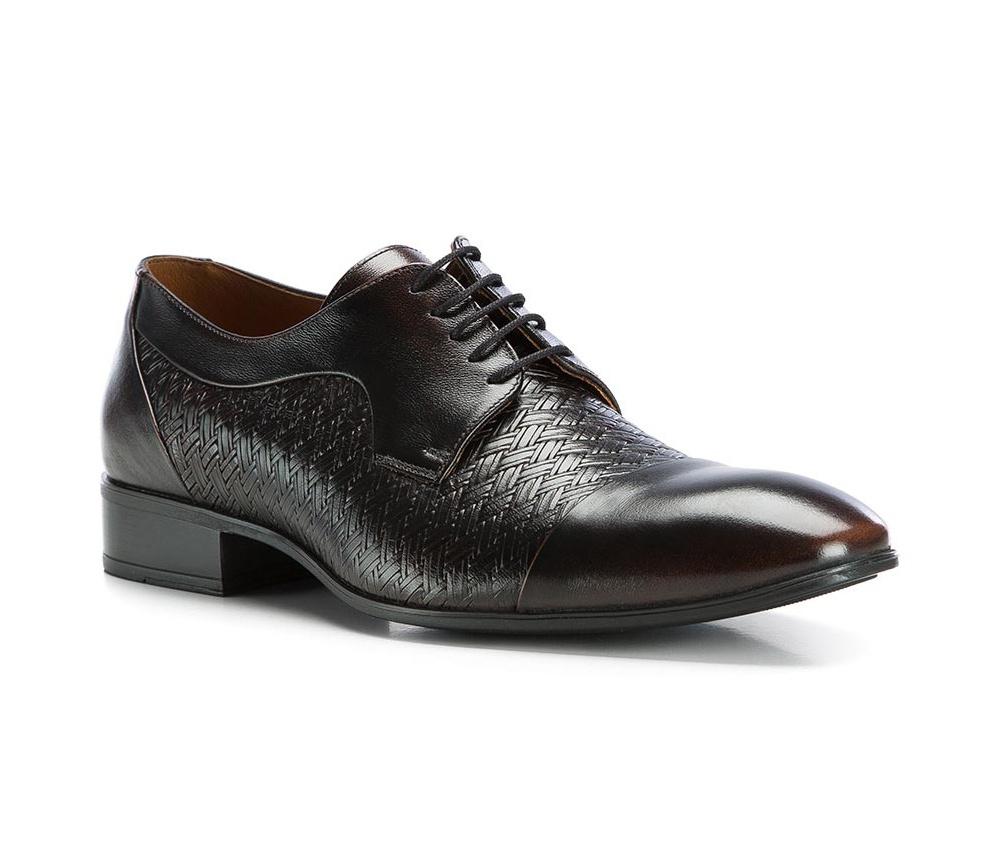 Обувь мужскаяТуфли мужские. Изготовленные по технологии Hand Madeи выполнены полностью из натуральной итальянской кожи наивысшего качества. Подошва  сделана из качественного синтетического материала. Идеальная модель для современного мужчины.<br><br>секс: мужчина<br>Цвет: коричневый<br>Размер EU: 41<br>материал:: Натуральная кожа<br>примерная высота каблука (см):: 3