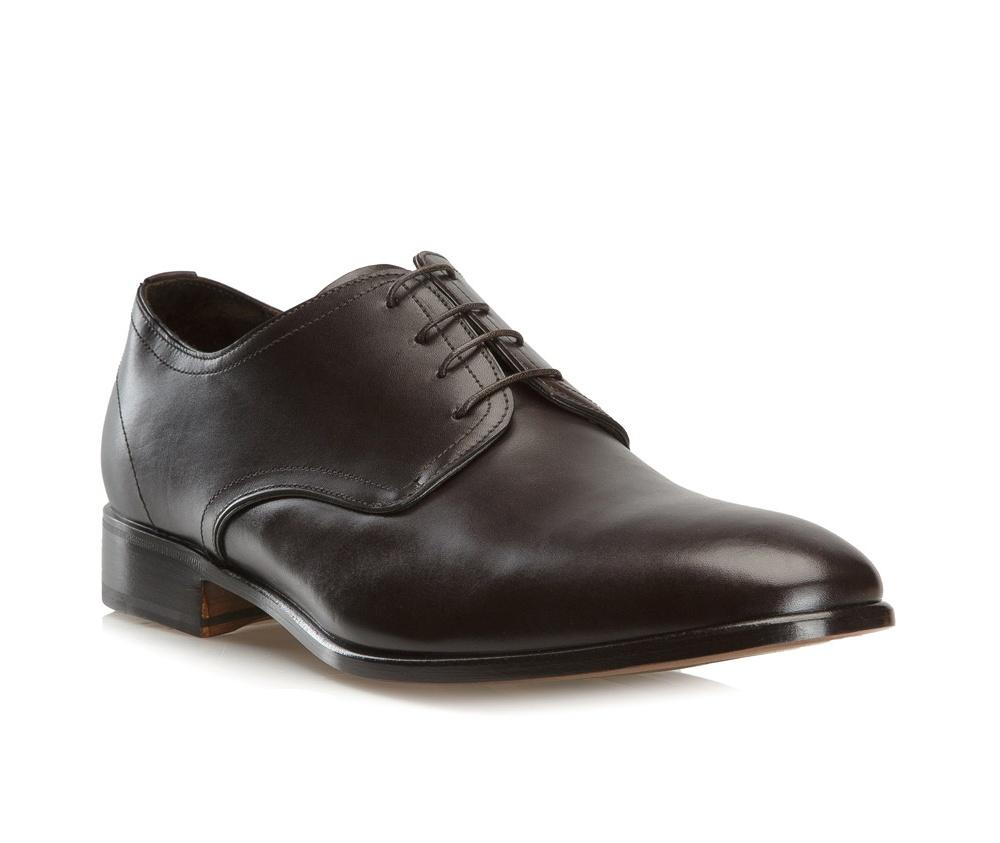 Обувь мужская Wittchen BM-B-574-4, темно-коричневыйТуфли мужские типа Shannon. Изготовленные по технологии \Hand Made\ выполнены полностью из натуральной итальянской кожи наивысшего качества. Подошва полностью сделана из качественного синтетического материала. Отличительной чертой этой линии от других моделей, является серебряный значок с логотипом WITTCHEN, расположенный на подошве. Эта модель идеально подойдет для тех, кому по нраву классика.<br><br>секс: мужчина<br>Цвет: коричневый<br>Размер EU: 40.5<br>материал:: Натуральная кожа<br>примерная высота каблука (см):: 3