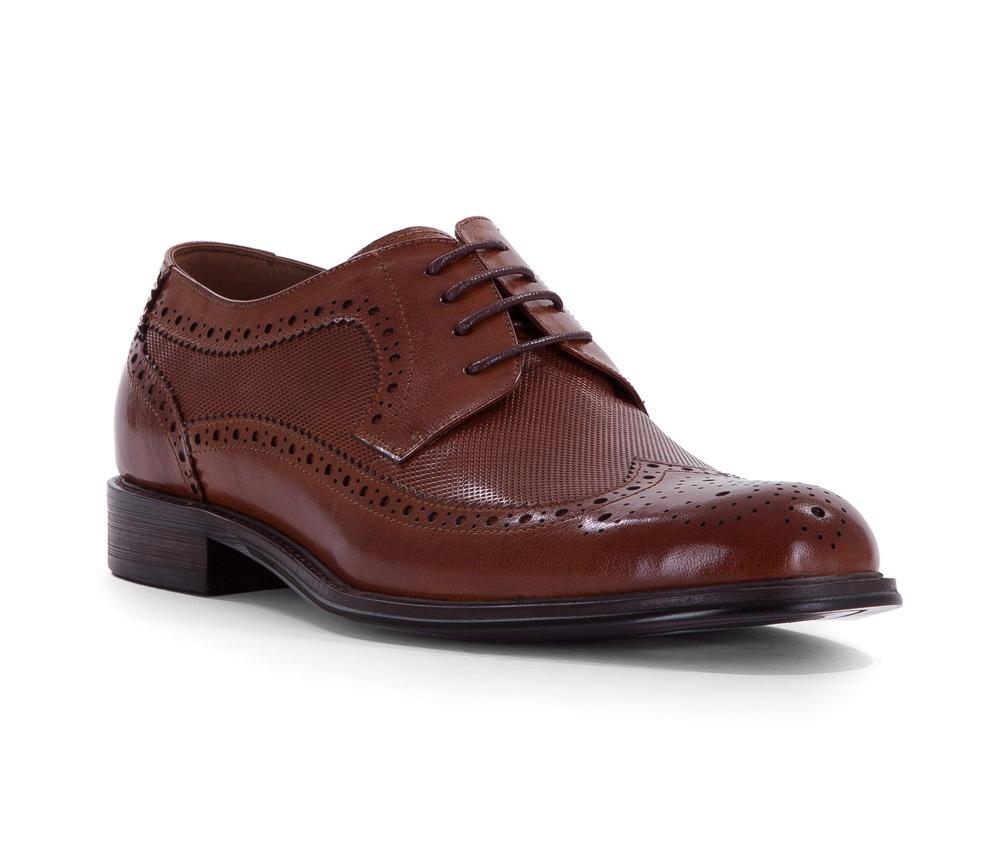 Обувь мужскаяТуфли мужские типа  Brogues. Изготовленные по технологии Hand Made и выполнены полностью из натуральной итальянской кожи наивысшего качества. Подошва  сделана из качественного синтетического материала. Стильный вид этой обуви придется по вкусу каждому. Модель идеально подходит к классической одежде.<br><br>секс: мужчина<br>Цвет: коричневый<br>Размер EU: 41<br>материал:: Натуральная кожа