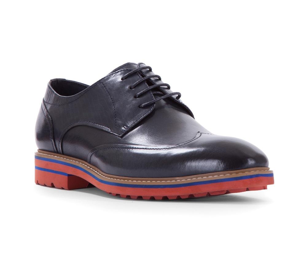 Обувь мужскаяТуфли мужские типа Дерби. Изготовленные по технологии Hand Made выполнены полностью из натуральной итальянской кожи наивысшего качества.<br><br>секс: мужчина<br>Цвет: синий<br>Размер EU: 44<br>материал:: Натуральная кожа