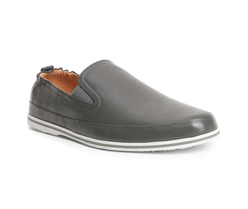 Обувь мужскаяТуфли мужские типа  Мокасины  выполнены по технологии Hand Made из натуральной итальянской кожи наивысшего качества.  Подошва сделана из качественного синтетического материала. Простой универсальный фасон  отлично сочетается с летним гардеробом. натуральная кожа  натуральная кожа синтетический материал<br><br>секс: мужчина<br>Цвет: серый<br>Размер EU: 42<br>материал:: Натуральная кожа