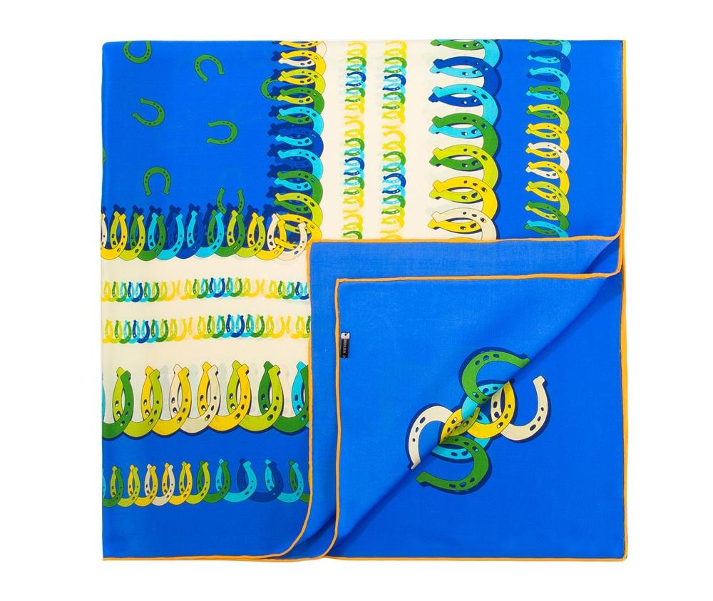 Платок женскийЖенский платок выполнен из шелка с знаком наивысшего качества King Silk.  Благородный материал в сочетании с интересным дизайном создает модный и элегантный образ, который идеально дополнит классический стиль.<br><br>секс: женщина<br>Цвет: разноцветный<br>материал:: Шелк