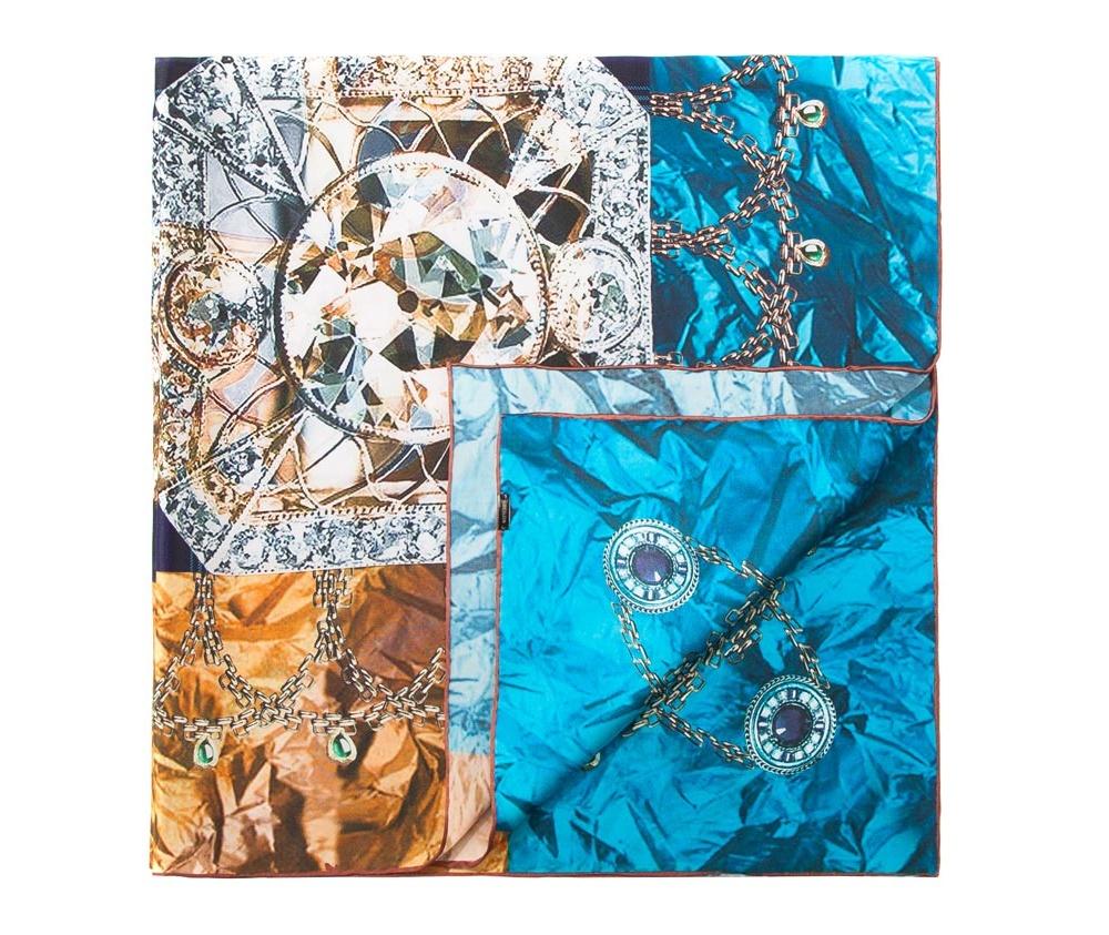 Платок женскийЖенский платок выполнен из шелка с знаком наивысшего качества King Silk.  В модели преобладают теплые тона и оригинальные дизайн , что  гарантирует удовольствие от использования.<br><br>секс: женщина<br>Цвет: разноцветный<br>материал:: Шелк<br>высота (см):: 95<br>ширина (см):: 95