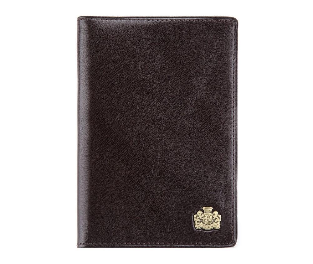 Обложка для паспортаОбложка для паспорта из коллекции Arizona. Изготовлена из  итальянской кожи высочайшего качества двойной выделки. Фирменный знак  выполнен в виде металлического значка цвета старого золота. Упакована в  фирменную коробку с логотипом WITTCHEN. Состоит из одного отделения для  паспорта.<br><br>секс: унисекс<br>Цвет: коричневый<br>материал:: натуральная кожа<br>высота (см):: 13.5<br>ширина (см):: 9.5