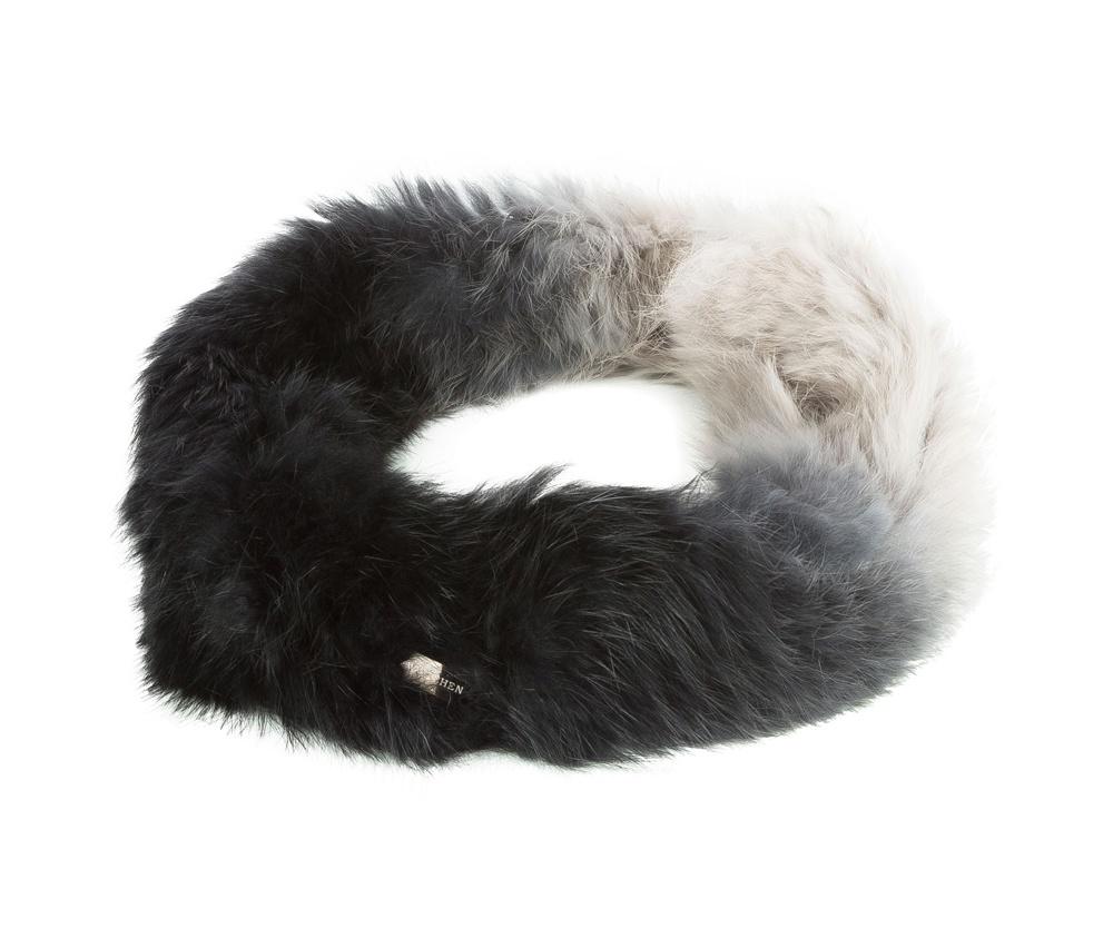 Шарф-комин женскийРоскошный шарф - снуд выполнен из натурального кроличьего меха. Снуд не только элегантно дополнит Ваш образ, но и прекрасно согреет в  зимние дни.<br><br>секс: женщина<br>Цвет: черный<br>материал:: Мех шерстяной<br>высота (см):: 16