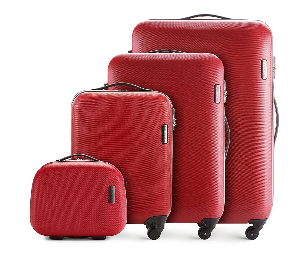 Комплект чемодановКомплект чемоданов из коллекции ABS S-Line. Изготовлен из высокопрочного пластика ABS.  Четыре прочных колеса позволяют легко перемещать чемодан. Имеет телескопическую ручку с фиксатором, эластичная прорезиненная ручка и кодовый замок.  Особенности модели:  отделение с эластичными ремнями, предохраняющими одежду от перемещения;;  отделение на молнии;  карман на молнии.    В состав комплекта входят:    Маленький чемодан  на колесах 56-3-610;  средний чемодан на колесах 56-3-612;  большой чемодан на колесиках 56-3-613;  Косметичка 56-3-614.<br><br>секс: унисекс<br>материал:: Поликарбонат<br>подкладка:: полиэстер<br>высота (см):: 55 - 71 - 81 - 31<br>ширина (см):: 36 - 47,5 - 54 - 35<br>глубина (см):: 20 - 24 -28 - 15<br>размер:: комплект<br>объем (л):: 27 - 64 - 94 - 11<br>вес (кг):: 2,8 - 3,8 - 4,5 - 1,1<br>Комплекты: так