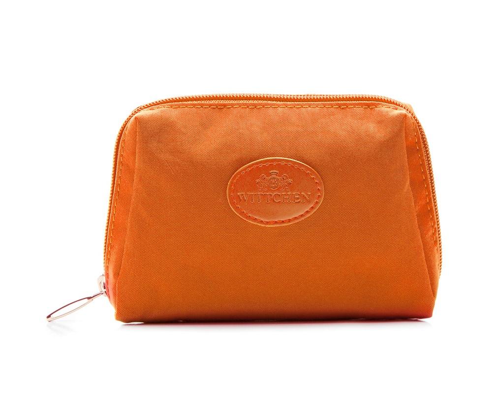 Косметичка Wittchen 85-4P-001-8, оранжевыйКосметичка кожаная<br><br>секс: женщина<br>Цвет: оранжевый<br>материал:: Полиэстер<br>высота (см):: 10<br>ширина (см):: 13<br>глубина (см):: 4