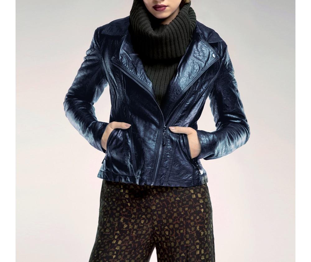 Куртка женскаяКуртка женская<br><br>секс: женщина<br>Цвет: синий<br>Размер INT: XXL<br>материал:: Екокожа<br>подкладка:: полиэстр<br>примерная общая длина (см):: 60