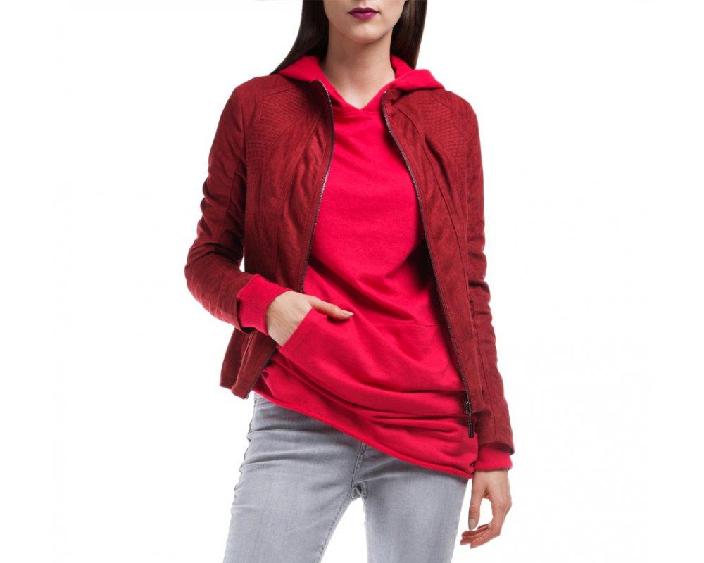 Куртка ЖенскаяКуртка изготовлена ??из высококачественных материалов, которые обеспечивают комфорт. Модель на застегивается с помощью молнии, со стоячим воротником. Имеет два внешних кармана на молнии. Интересные швы на плечах и локтях добавляют неповторимый акцент.<br><br>секс: женщина<br>Размер INT: L