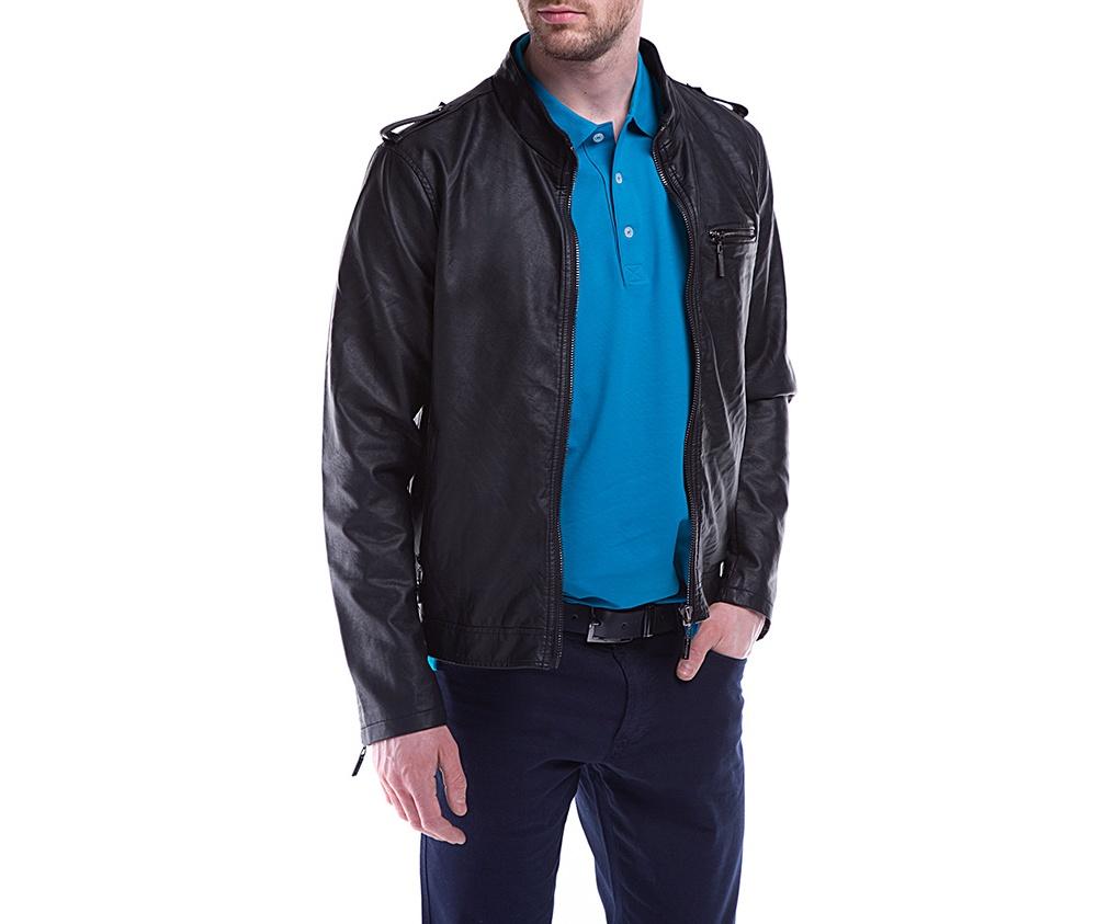 Куртка мужскаяКуртка мужская изготовлена из экологической, мягкой кожи. Модель застегивается на молнию. Имеет 4 кармана внешних - 2 на молнии и 2 открытых, а также 2 внутренних открытых кармана. кармана . Простой фасон куртки подойдет ко многим мужским стилям<br><br>секс: мужчина<br>Размер INT: S