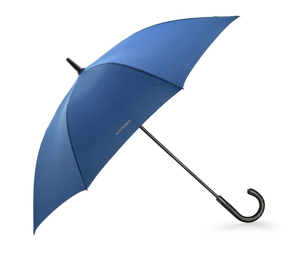 ЗонтБольшой полуавтоматический зонт обеспечит отличную защиту от дождя и ветра. Прочный каркас из стекловолокна и чаша выполнена из прочного, непромокаемого материала гарантируют надежность.  Функция автоматического открытия значительно облегчить использование. Эффектная ручка с отделкой контрастной нитью придает зонту элегантность.<br><br>секс: унисекс<br>Цвет: голубой