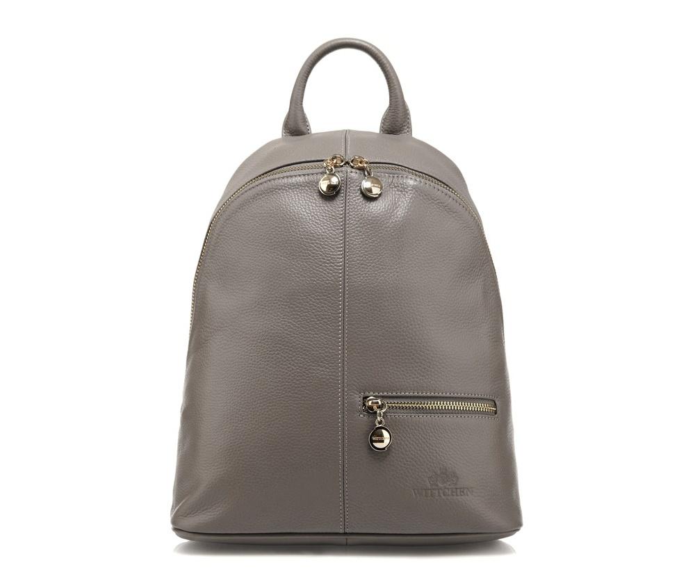 Рюкзак кожаныйРюкзак кожаный<br><br>секс: женщина<br>Цвет: серый<br>материал:: Натуральная кожа<br>тип:: на спине<br>высота (см):: 30<br>ширина (см):: 27 - 32<br>глубина (см):: 12<br>вмещает формат А4: нет<br>общая высота (см):: 40<br>вес (кг):: 0,7