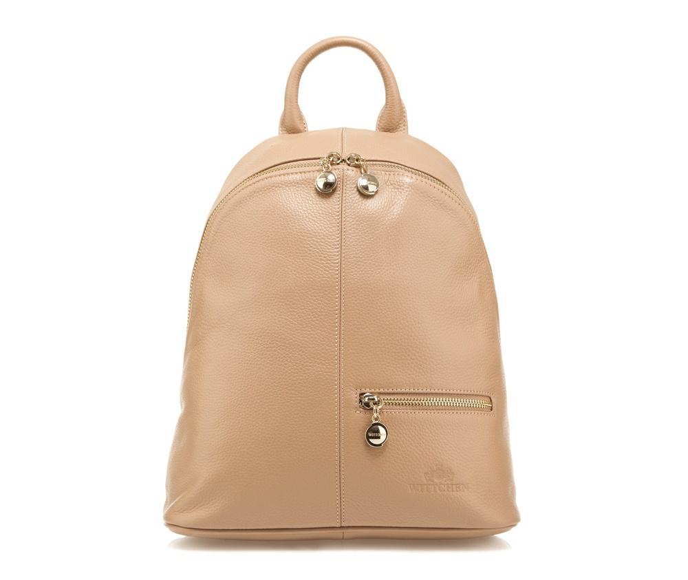 Рюкзак кожаный Wittchen 85-4E-517-9, светло-бежевыйРюкзак кожаный<br><br>секс: женщина<br>Цвет: бежевый<br>материал:: Натуральная кожа<br>тип:: на спине<br>высота (см):: 30<br>ширина (см):: 27 - 32<br>глубина (см):: 12<br>вмещает формат А4: нет<br>общая высота (см):: 40<br>вес (кг):: 0,7