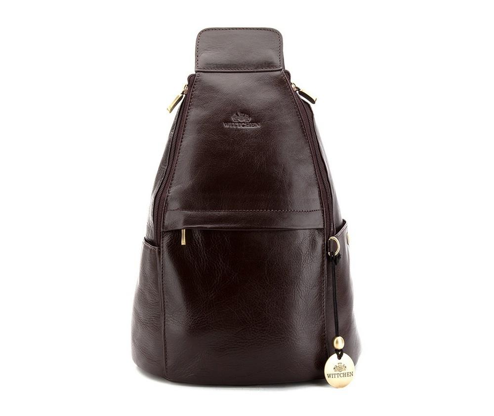 РюкзакГлавное отделение имеет 2 молнии, по бокам карманы на магните, внутри сумки карман на молнии и отделение для мобильного телефона, 2 крепления для ручек, на передней и задней стенке сумки карманы на молнии, регулируемая ручка, а также возможность объединения 2 ручек в 1.<br><br>секс: женщина<br>Цвет: коричневый<br>материал:: Натуральная кожа<br>высота (см):: 37<br>ширина (см):: 28<br>глубина (см):: 16