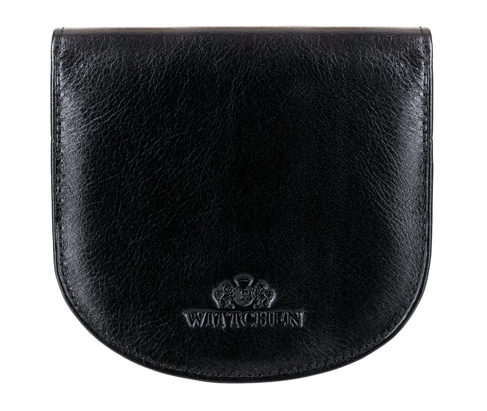 Кожаный кошелек Wittchen 21-1-043-1, черныйКомпактный Кошелек универсальный из коллекции Italy, ручной работы  из прочной натуральной кожи. Логотип – герб WITTCHEN тисненый на коже. Модель предназначена для людей, которые ценят функциональность и стиль casual.  Особенности модели:    отделение для мелочи ;  2 отделения для купюр;  2 кармана.<br><br>секс: унисекс<br>Цвет: черный<br>материал:: Натуральная кожа<br>высота (см):: 10<br>ширина (см):: 9
