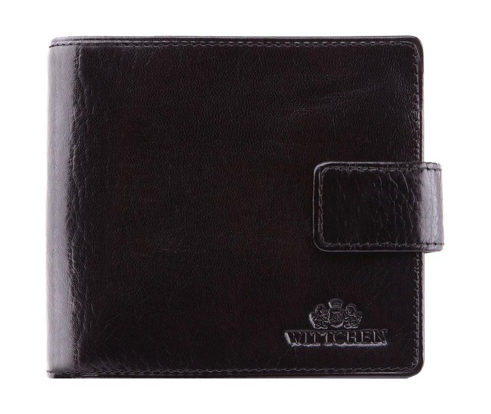 КошелекМужской кошелек среднего размера, сделан из мягкой телячьей кожи. Логотип- герб WITTCHEN тисненый на коже.&#13;<br>Кошелек состоит: &#13;<br>&#13;<br>    отделение для монет,&#13;<br>    2 отделения для купюр, однона молнии,&#13;<br>    2 отделения для кредитных карт,&#13;<br>    2 кармана,&#13;<br>    размеры 115 x 100 мм.&#13;<br>&#13;<br>Кошелек имеет подарочную упаковку с логотипом WITTCHEN, дополнительно с товаром прилагается индивидуальный Сертификат Подлинности, который подтверждает оригинальность и высокое качество товара. Коллекция Italy, подробное описание коллекции Вы можете найти<br><br>секс: мужчина<br>Цвет: черный<br>высота (см):: 10<br>ширина (см):: 11,5