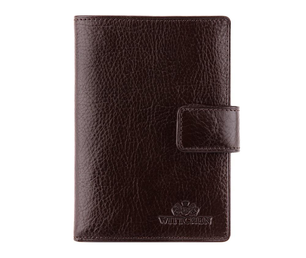 КошелекУниверсальный кошелек среднего размера, сделан из мягкой телячьей кожи. Логотип- герб WITTCHEN тисненый на коже.&#13;<br>Кошелек имеет:&#13;<br>&#13;<br>    отделение для монет,&#13;<br>    отделение для купюр,&#13;<br>    8 отделений для кредитных карт,&#13;<br>    5 карманов, один прозрачный,&#13;<br>    отделение для паспорта и водительского удостоверения,&#13;<br>    размеры 95 x 130 мм.&#13;<br>&#13;<br>Кошелек имеет подарочную упаковку с логотипом WITTCHEN, дополнительно с товаром прилагается индивидуальный Сертификат Подлинности, который подтверждает оригинальность и высокое качество товара.&#13;<br>Коллекция Italy, подробное описание коллекции Вы можете найти<br><br>секс: унисекс<br>Цвет: коричневый<br>высота (см):: 13<br>ширина (см):: 9