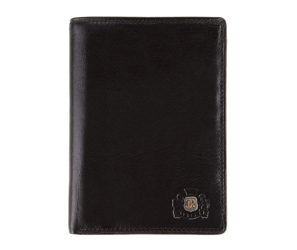 КошелёкМужской кошелёк большого размера из коллекцииDa Vinci, изготовлен из итальянской кожи высочайшего качества двойной выделки. Фирменный знак выполнен в виде металлического значка цвета старого золота. Упакован в фирменную коробку с логотипом WITTCHEN. Незаменимый аксессуар для делового человека.&#13;<br>&#13;<br>Особенности модели:&#13;<br>&#13;<br>    отделение для купюр&#13;<br>    6  карманов, в том числе 2 прозрачных&#13;<br>    6 слотов для кредитных карт&#13;<br>    ъемный вкладыш для документов разных размеров&#13;<br>    отделение для автодокументов.<br><br>секс: мужчина<br>Цвет: черный<br>материал:: натуральная кожа<br>высота (см):: 14<br>ширина (см):: 10