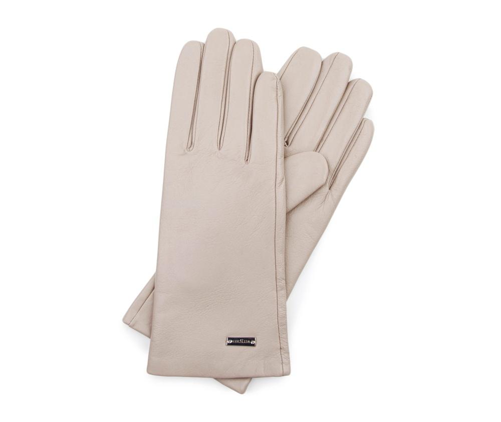 Перчатки женские Wittchen 39-6-500-6A, слоновая костьПерчатки женские Wittchen 39-6-500-6A, слоновая кость<br><br>секс: женщина<br>Цвет: бежевый<br>Размер INT: XL<br>материал:: Натуральная кожа