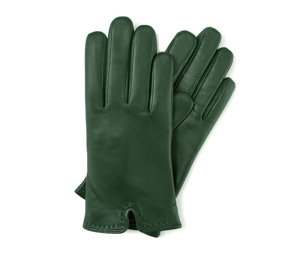 Перчатки женские кожаные Wittchen 39-6-213-7T, зеленыйПерчатки женские кожаные<br><br>секс: женщина<br>Цвет: зеленый<br>Размер INT: L<br>материал:: Натуральная кожа