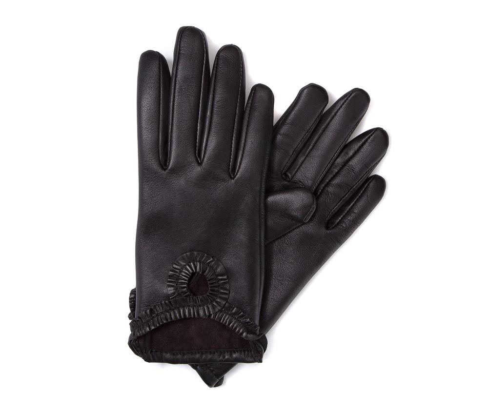 Перчатки женские кожаные Wittchen 39-6-285-1, черныйПерчатки женские кожаные<br><br>секс: женщина<br>Цвет: черный<br>Размер INT: XL