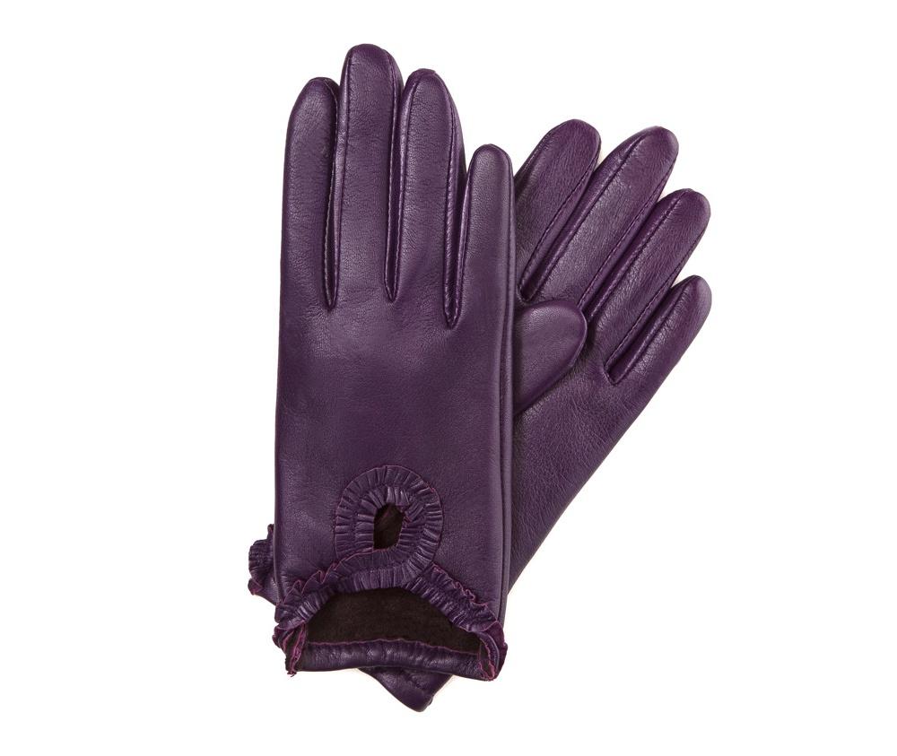 Перчатки женские кожаные Wittchen 39-6-285-P, сливовыйПерчатки женские кожаные<br><br>секс: женщина<br>Цвет: фиолетовый<br>Размер INT: M
