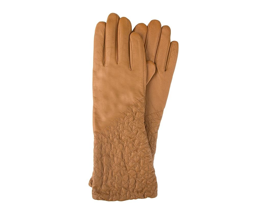 Перчатки женские кожаныеПерчатки женские кожаные<br><br>секс: женщина<br>Цвет: коричневый<br>Размер INT: M