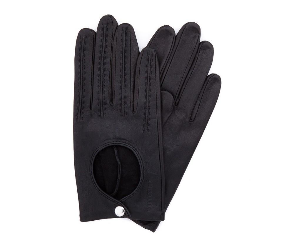 Перчатки женскиеЖенские автомобильные перчатки, изготовлены из натуральной кожи высокого качества.Они не только практичы,но и чрезвычайно привлекательны. Дополнительным преимуществом является кнопка для легкого надевания перчаток.       Размер  V  S  M  L  XL      Длина (cм)  18  18,5  19  19,5  20      Ширина (cм)  8  8,5  9  9,5  10      Длина среднего палеца (cм)  7,5  8  8,5  9  9,5<br><br>секс: женщина<br>Цвет: черный<br>Размер INT: L<br>вид:: автомобильные<br>материал:: Натуральная кожа
