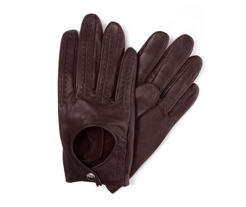 Перчатки женские автомобильныеЖенские автомобильные перчатки, изготовлены из натуральной кожи высокого качества.Они не только практичы,но и чрезвычайно привлекательны. Дополнительным преимуществом является кнопка для легкого надевания перчаток.       Размер  V  S  M  L  XL      Длина (cм)  18  18,5  19  19,5  20      Ширина (cм)  8  8,5  9  9,5  10      Длина среднего палеца (cм)  7,5  8  8,5  9  9,5<br><br>секс: женщина<br>Цвет: коричневый<br>Размер INT: L<br>материал:: Натуральная кожа