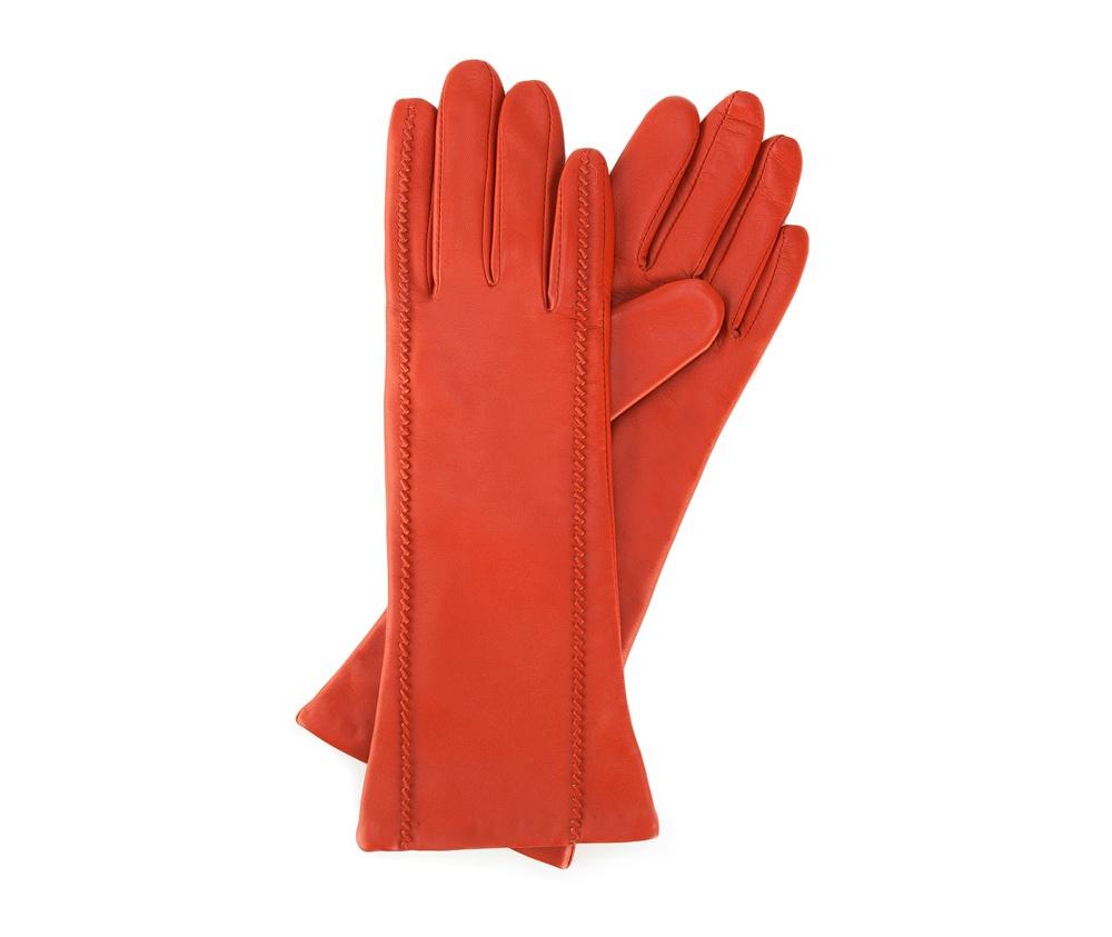 Перчатки женские кожаные Wittchen 39-6-227-6, красныйПерчатки женские кожаные<br><br>секс: женщина<br>Размер INT: S