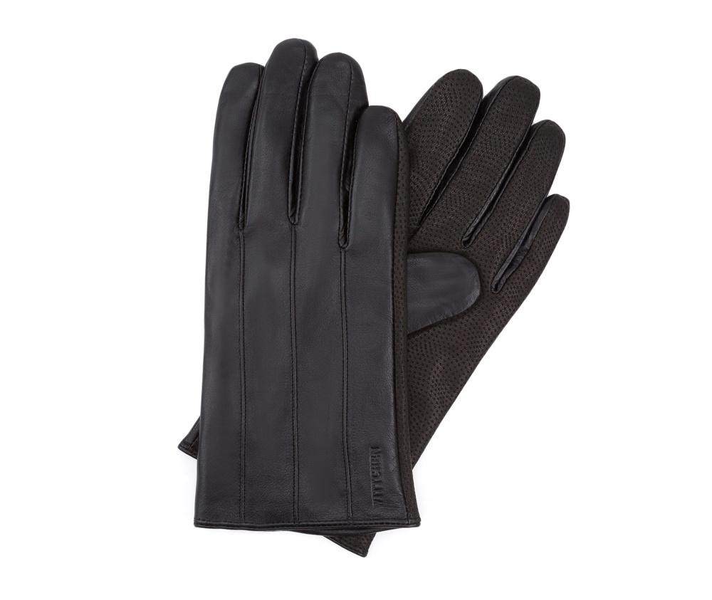 Перчатки мужские кожаные Wittchen 39-6L-342-1, черныйПерчатки мужские кожаные<br><br>секс: мужчина<br>Цвет: черный<br>Размер INT: S