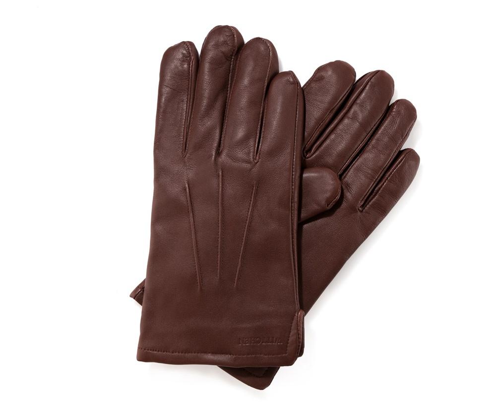 Перчатки мужские кожаные Wittchen 39-6-308-D, коричневыйПерчатки мужские кожаные<br><br>секс: мужчина<br>Цвет: коричневый<br>Размер INT: M