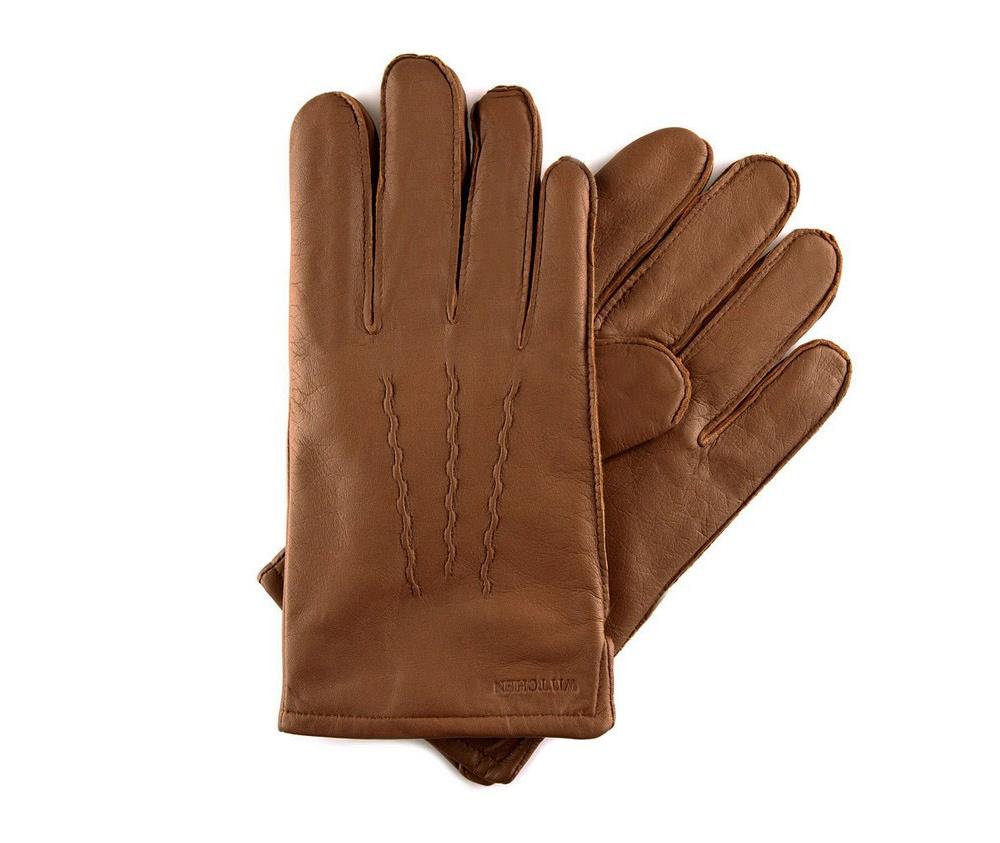 Перчатки мужские кожаные Wittchen 39-6-328-6, светло-коричневыйПерчатки мужские кожаные<br><br>секс: мужчина<br>Цвет: коричневый<br>Размер INT: L