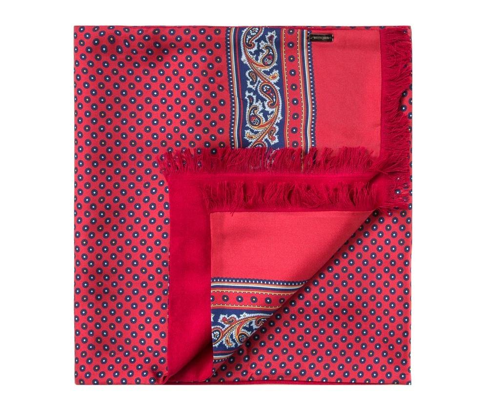 Шарф мужскойДвусторонний мужской шарф  из шелка с знаком наивысшего качества King Silk. Слегка глянцевый сторона с узором подойдет для менее обязывающего стиля, а однотонная сторона идеально сочетается с элегантным образом.<br><br>секс: мужчина<br>материал:: Шелк<br>высота (см):: 164<br>ширина (см):: 31