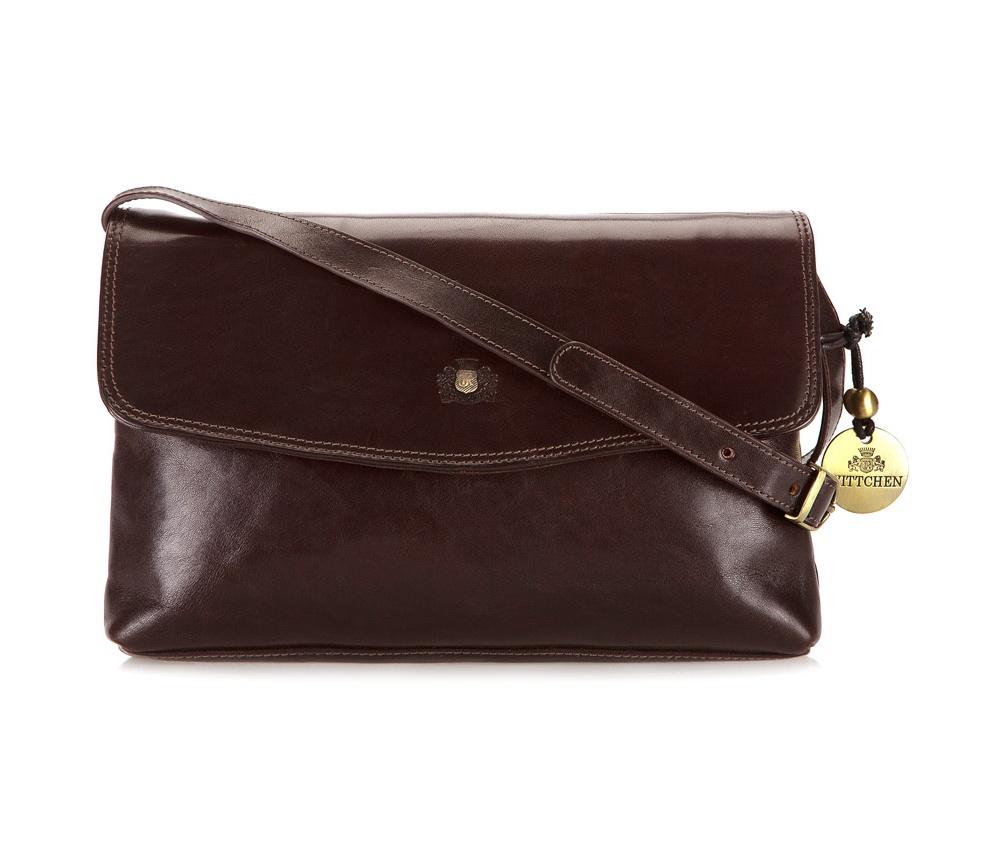 Женская сумка2 основных отделения (на молнии и открытое), прикрыты клапаном закрывающимся на магнит,внутренний карман на молнии, на задней стенке карман на молнии, сьемный плечевой ремень<br><br>секс: женщина<br>Цвет: коричневый<br>материал:: натуральная кожа<br>высота (см):: 19<br>ширина (см):: 29<br>глубина (см):: 6.5