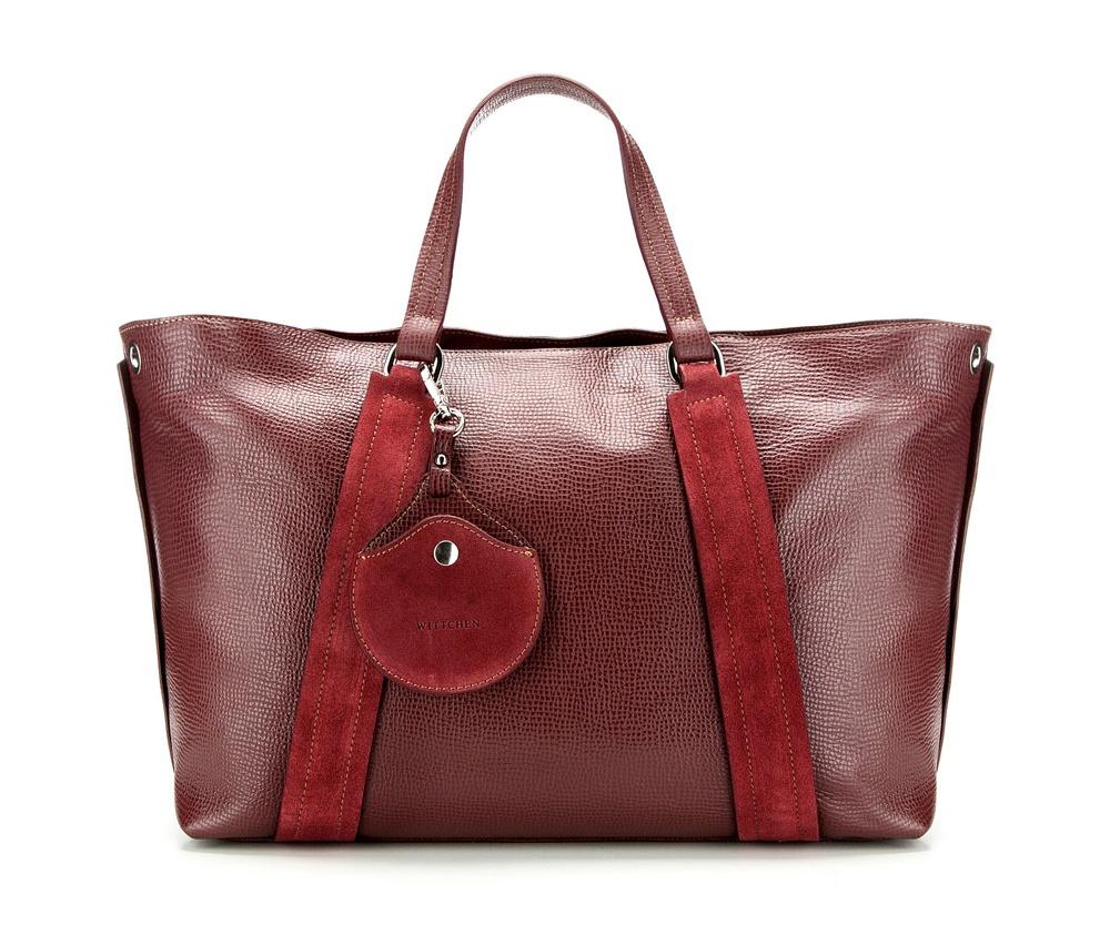 Сумка кожанаяСумка из коллекции Elegance. Основное отделение на молнии. Внутри карман на молнии и открытый карман для мелких предметов. Дополнительно съемный плечевой ремень.<br><br>секс: женщина<br>Цвет: красный<br>материал:: Натуральная кожа<br>тип:: через плечо<br>высота (см):: 28<br>ширина (см):: 38 - 50<br>глубина (см):: 12<br>вмещает формат А4: да<br>общая высота (см):: 44<br>вес (кг):: 1