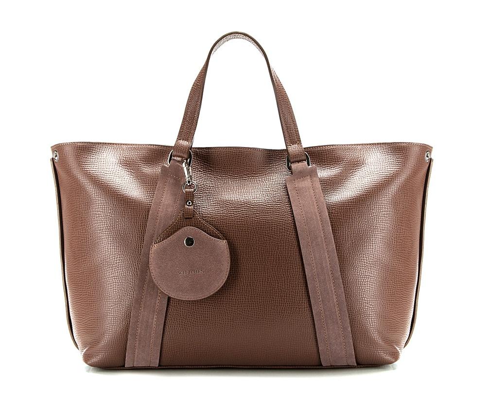 Сумка кожаная Wittchen 85-4E-014-5, светло-коричневыйСумка из коллекции Elegance. Основное отделение на молнии. Внутри карман на молнии и открытый карман для мелких предметов. Дополнительно съемный плечевой ремень.<br><br>секс: женщина<br>Цвет: коричневый<br>материал:: Натуральная кожа<br>тип:: в руке<br>высота (см):: 28<br>ширина (см):: 38 - 50<br>глубина (см):: 12<br>вмещает формат А4: да<br>общая высота (см):: 44<br>вес (кг):: 1