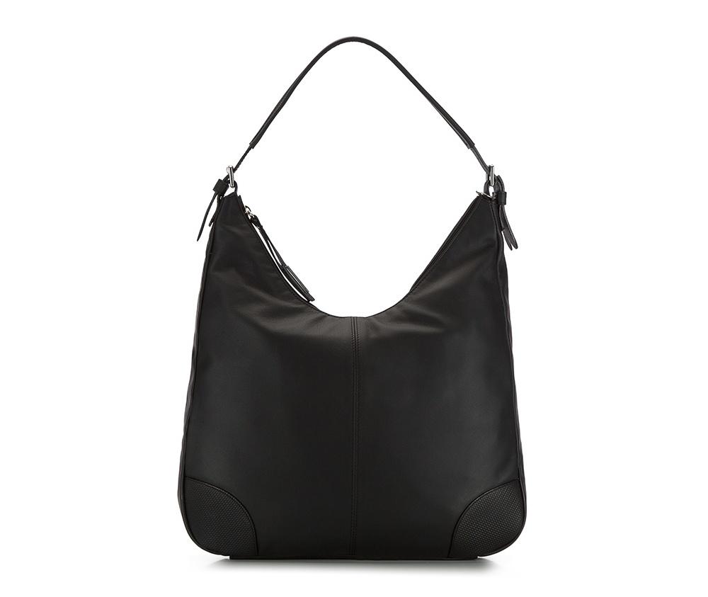 Женская сумкаЖенская сумка из коллекции Elegance 2016&#13;<br>Основной   отдел   застегивается на молнию. Внутри открытый   карман для    мелких  предметов отделение на молнии и для мобильного  телефона. Дно сумки   защищено металлическими   ножками. Дополнительно съемный плечевой ремень.<br><br>секс: женщина<br>Цвет: черный<br>материал:: натуральная кожа<br>длина плечевого ремня (cм):: 95 - 107<br>высота (см):: 31<br>ширина (см):: 38 - 41<br>глубина (см):: 7<br>общая высота (см):: 59 - 64