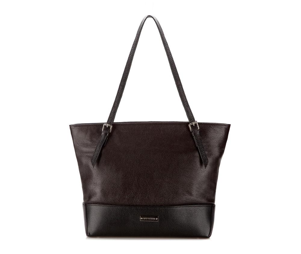 Женская сумкаЖенская сумка из коллекции Elegance Лето 2015 Основное отделение на молнии, внутри отделение на молниии и 2 открытых кармана для мелких предметов. На обратной стороне карман на молнии, основание сумки на металлических ножках. Дополнительно регулируемый плечевой ремень.<br><br>секс: женщина<br>Цвет: коричневый<br>высота (см):: 30<br>ширина (см):: 30 - 40<br>глубина (см):: 11