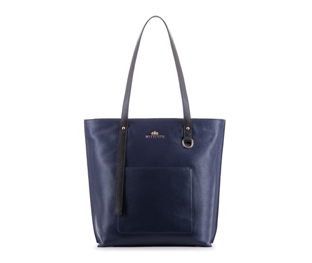 Женская сумкаЖенская сумка из коллекции Elegance&#13;<br>Основной отдел застегивается на молнию. Внутри два кармана на молнии, открытый карман для мелких предметов и отделение для мобильного телефона. Снаружи на лицевой стороне открытый карман. Дно сумки защищено металлическими  ножками.<br><br>секс: женщина<br>вмещает формат А4: поместит формат A4<br>материал:: Натуральная кожа<br>высота (см):: 32.5<br>ширина (см):: 29 - 38<br>глубина (см):: 12<br>общая высота (см):: 59<br>длина ручки/ек (см):: 63