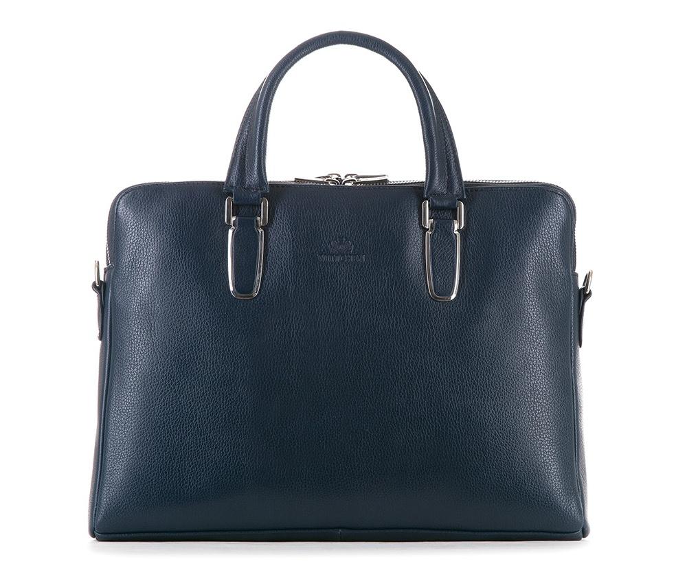 Женская сумкаЖенская сумка из коллекции Elegance&#13;<br>Два основных отдела застегиваются на молнию.Внутри карман на молнии, открытый карман для мелких предметов, отделение для мобильного телефона и 2 отделения для ручек. С тыльной стороны карман на молнии с ремнём , позволяющим крепление на ручке чемодана. Дополнительно прилагается съемный, регулируемый ремень.<br><br>секс: женщина<br>вмещает формат А4: поместит формат А4<br>материал:: Натуральная кожа<br>длина плечевого ремня (cм):: 75 - 140<br>высота (см):: 27<br>ширина (см):: 36<br>глубина (см):: 6<br>общая высота (см):: 38<br>длина ручки/ек (см):: 39