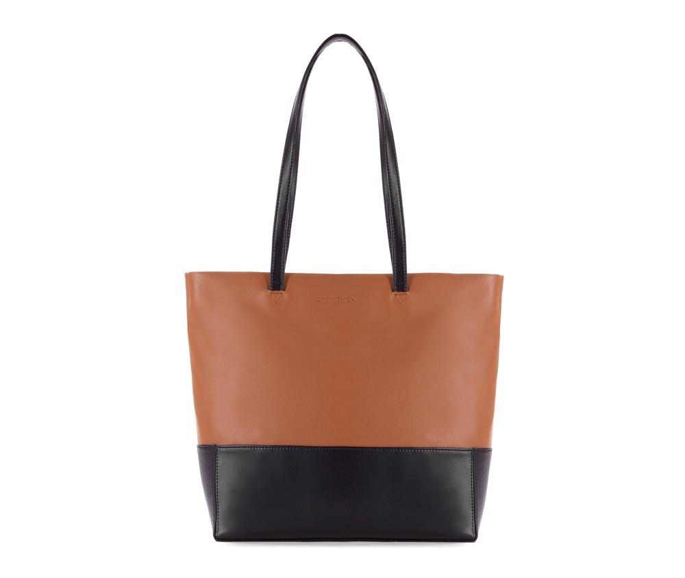 Женская сумкаЖенская сумка из коллекции Elegance&#13;<br>Основной отдел застегивается на молнию.Внутри карман на молнии, открытый карман для мелких предметов и отделение для мобильного телефона.<br><br>секс: женщина<br>Цвет: черный<br>материал:: Натуральная кожа<br>высота (см):: 35<br>ширина (см):: 29 - 35<br>глубина (см):: 10<br>иное :: поместит формат А4<br>общая высота (см):: 55<br>длина ручки/ек (см):: 63