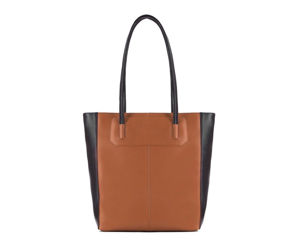 Женская сумкаЖенская сумка из коллекции EleganceОсновной отдел застегивается на молнию.Внутри карман на молнии, открытый карман для мелких предметов и отделение для мобильного телефона.<br><br>секс: женщина<br>Цвет: коричневый<br>вмещает формат А4: поместит формат А4<br>материал:: Натуральная кожа<br>высота (см):: 32<br>ширина (см):: 28 - 37<br>глубина (см):: 10<br>общая высота (см):: 59<br>длина ручки/ек (см):: 69