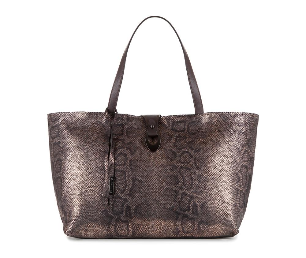 Женская сумкаЖенская сумка из коллекции Elegance&#13;<br>Основной отдел застегивается на молнию.Внутриотделение на молнии, открытый карман для мелких предметов и отделение для мобильного телефона. Дно сумки защищено металлическими ножками.<br><br>секс: женщина<br>Цвет: коричневый<br>вмещает формат А4: поместит формат А4<br>материал:: Натуральная кожа<br>высота (см):: 27<br>ширина (см):: 38 - 50<br>глубина (см):: 16<br>общая высота (см):: 47<br>длина ручки/ек (см):: 50